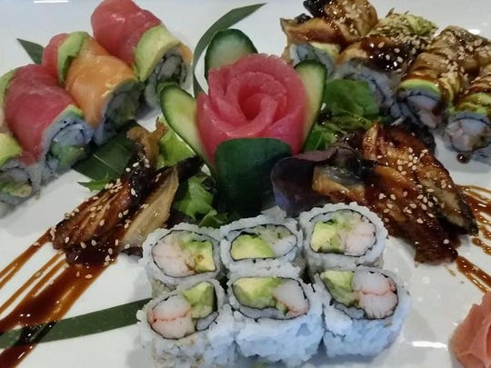 A sampling of the sushi available at Danny's Steak House & Sushi in Red Bank.
