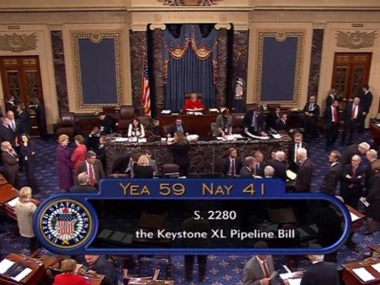 U.S. Senate fails to pass Keystone XL pipeline bill