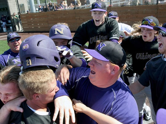North Kitsap baseball coach Jeff Weible, who earned the Kitsap Sun male Athlete of the Year award in 1989, is the Coach of the Year for 2017.