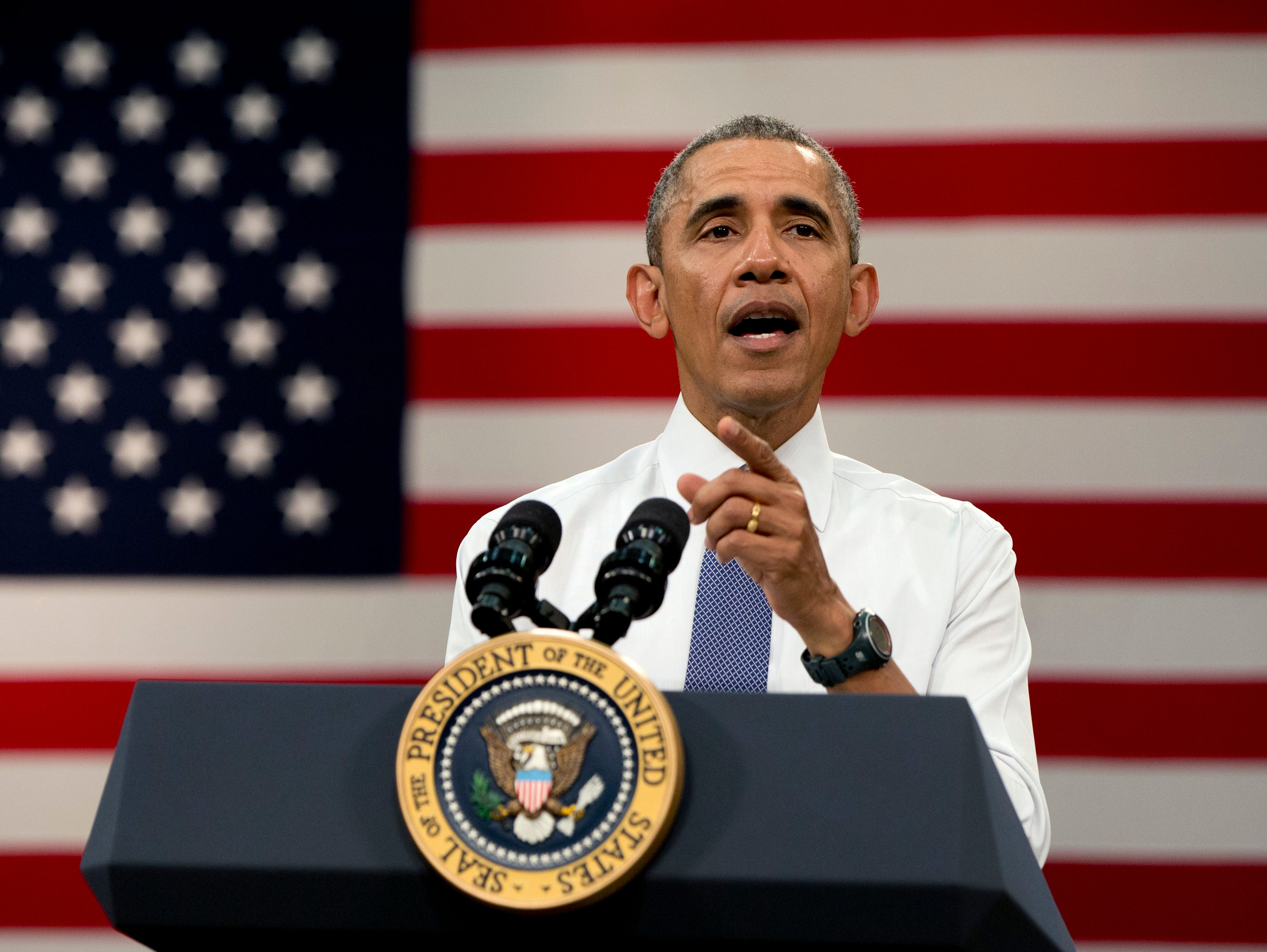 President Obama speaks before he participates in a town-hall meeting at Benedict College, Friday, in Columbia, S.C., about the importance of community involvement.