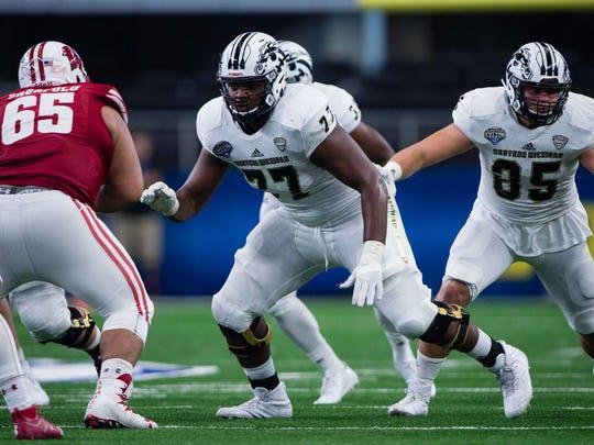 Western Michigan offensive tackle Chukwuma Okorafor