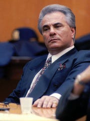 John Gotti sits in New York state Supreme Court in Manhattan Jan. 20, 1990.