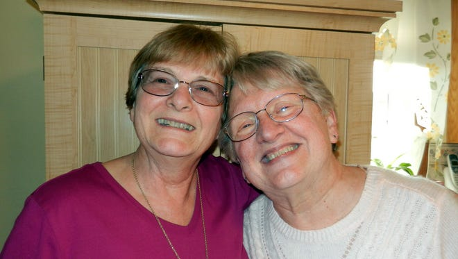 Columnist Susan Manzke (right) has been lifelong friends with her pal Joyce since they were six years old.