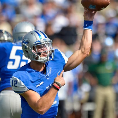 Blue Raider quarterback Brent Stockstill (12) already