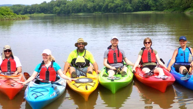 Southern Tier Kayak Tours leads a guided river paddle along the Chemung River.