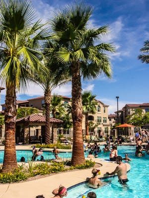 The Mark-Taylor crew brought its latest pool party fun to the San Capella community in Tempe.