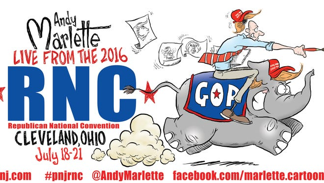 Andy Marlette will report (and cartoon) from the Republican National Convention in Cleveland this week.