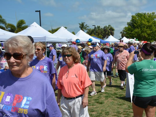There were many survivors at the 2015 Relay for Life. This year's event is 4 to 10 p.m. Saturday at Veterans Community Park.