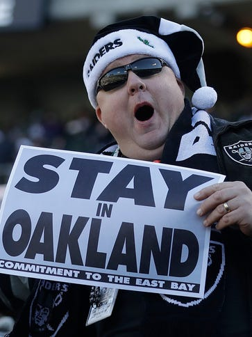 Raiders fans want the team to stay in Oakland, but