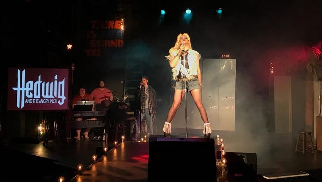 """Ryan Bowie in the 2014 production of """"Hedwig and the Angry Inch"""" at the Roxy Regional Theatre."""