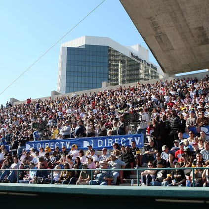 ST. PETERSBURG, FL - JANUARY 31: A general view of atmosphere at DIRECTV's 3rd Annual Celebrity Beach Bowl at Progress Energy Park, Home of Al Lang Field on January 31, 2009 in St. Petersburg, Florida.  (Photo by Logan Fazio/Getty Images for DirectTV)LAng Stadium