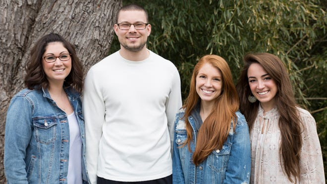 From left: Samantha Bongiorni, Joe Kovacs, Amanda Crossen and Lauren Dehrone. new hires for JK Design, a creative and advertising agency with offices in Hillsborough: