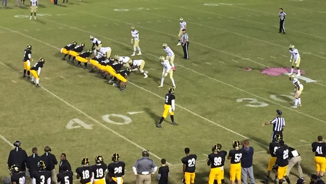 Union County rolled up 418 yards of offense in its 42-28 victory over Greer Friday night at Union County Stadium.