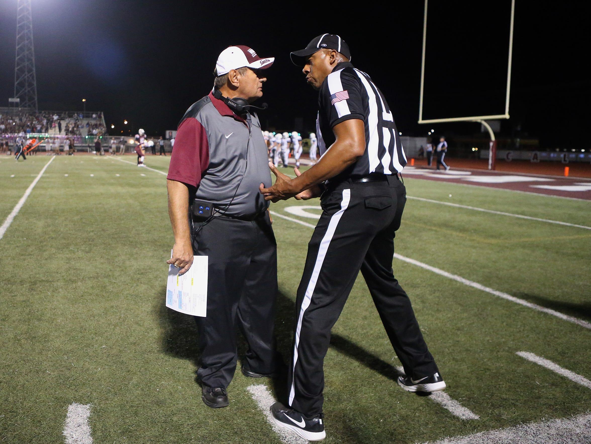GABE HERNANDEZ/CALLER-TIMESCalallen head coach Phil