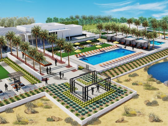 A rendering for the clubhouse at Miralon, which will