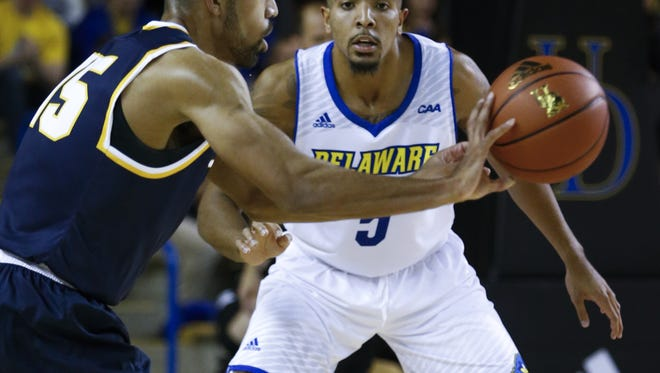 Jackson native Eric Carter and the University of Delaware will play at Seton Hall on Saturday evening