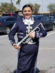 Belen Hernandez in her mariachi outfit.