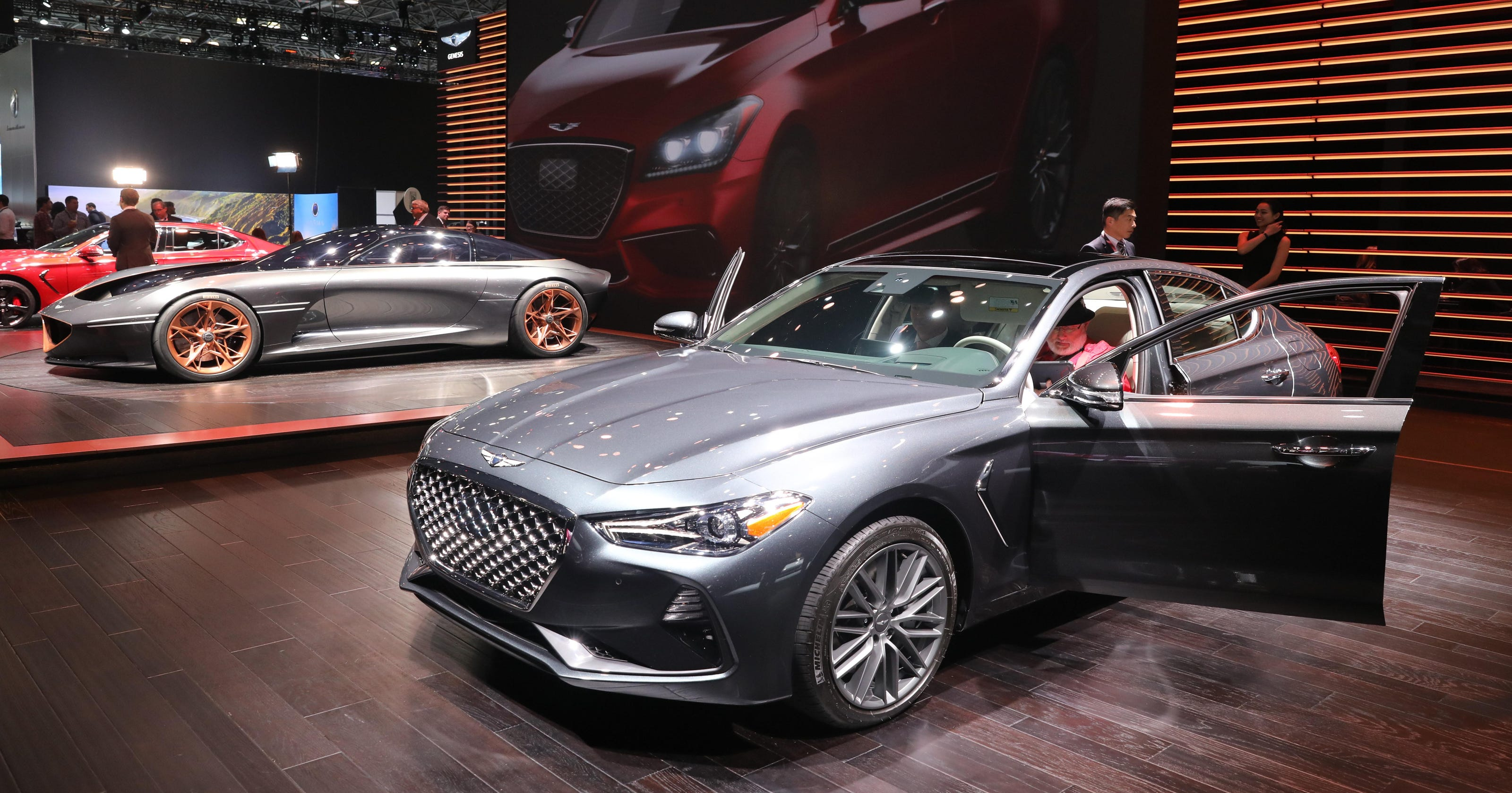 la auto show: genesis g70 is named car of the yearmotor trend