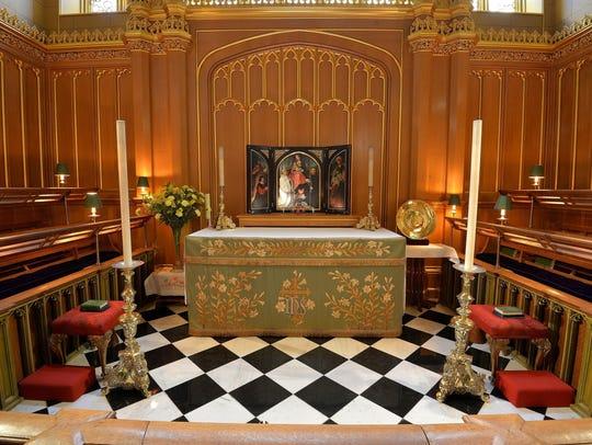 The interior of the Chapel Royal at St James's Palace