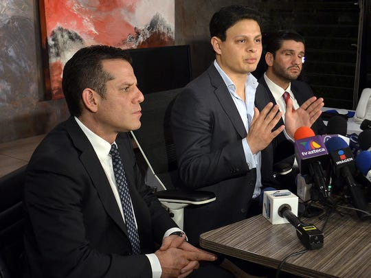 El abogado de Giovanni, Sergio Arturo Ramírez (der), aseguró que el resultado de la prueba por consumo de drogas que se le hizo a Ninel, y salió positivo, es irrefutable e inimpugnable, porque no hay margen de error.