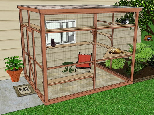 Catios provide an enclosed space outdoors for cats