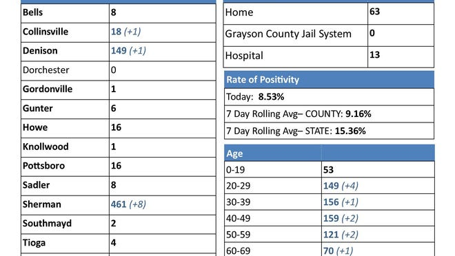 This graph was included in the packet of information released by Grayson County Office of Emergency Management regarding the hospitals' request for help from the state.