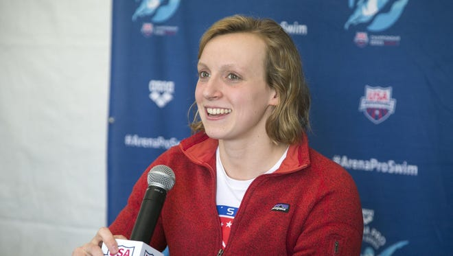 Olympic swimmer Katie Ledecky has swimming in her blood. Her mother, Mary Gen Hagan Ledecky swam for the College of Great Falls.