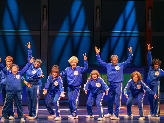 "The cast of ""Half Time"" at Paper Mill Playhouse"