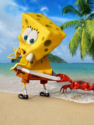 """SpongeBob SquarePants in a scene from the animated motion picture """"Spongebob: Sponge Out of Water.""""  CREDIT: Paramount Pictures [Via MerlinFTP Drop]"""