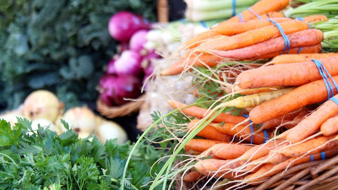 There's still a wide variety of vegetables and fruits at the farmers market as the summer season overlaps with the start of the fall harvest.