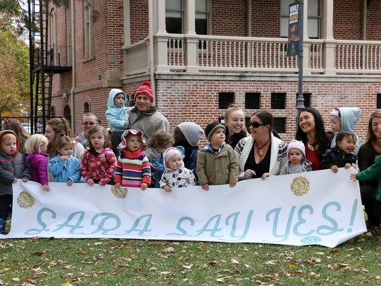 UNR preschool teacher Sara Trigero's students and coworkers