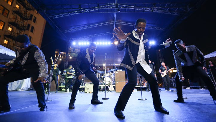 The Jacksons perform during Detroit Music Weekend in