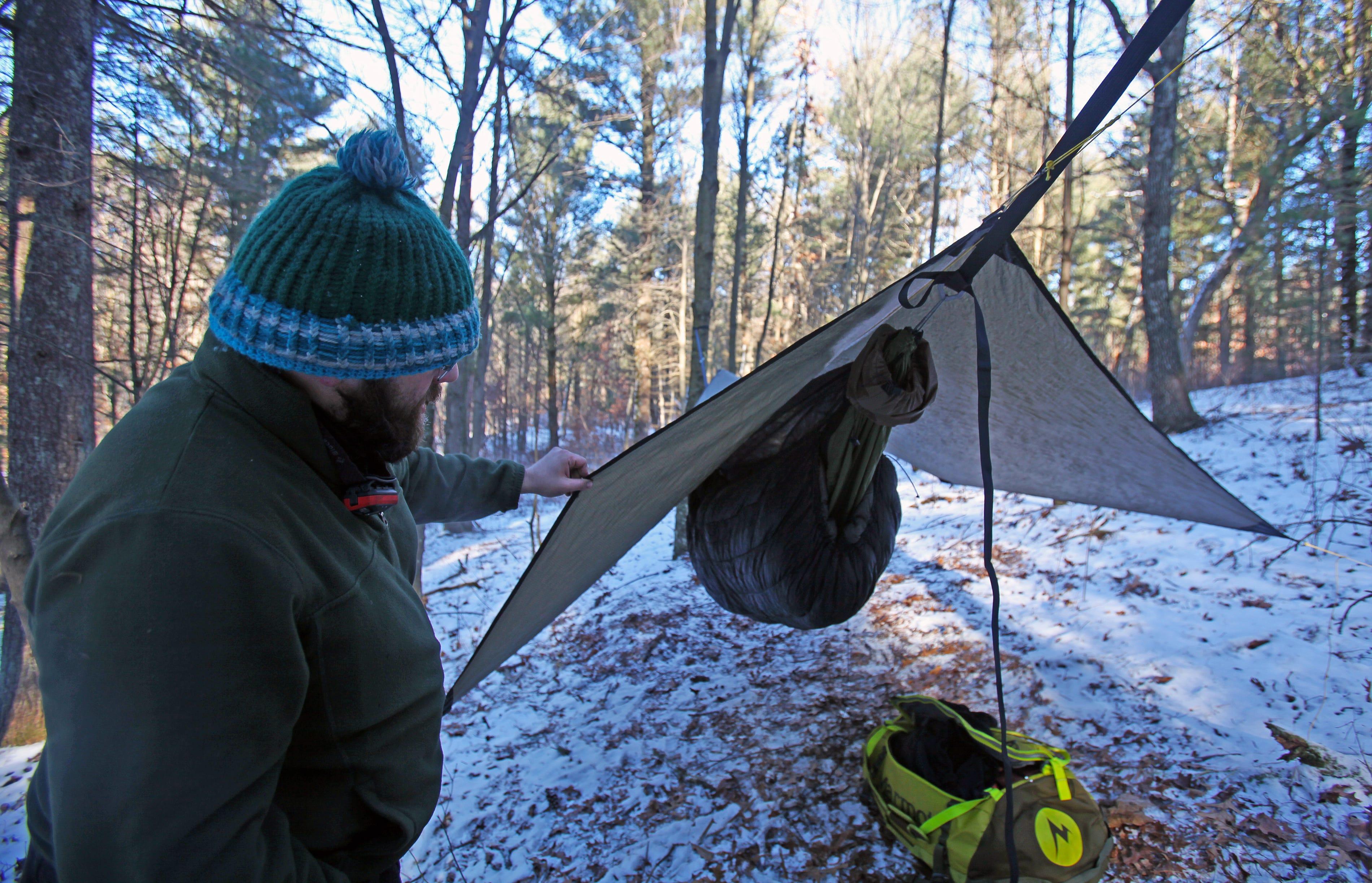 frozen butt hang winter hammock campers gather for wisconsin u0027s frozen butt hang  rh   jsonline