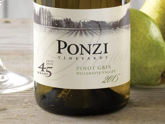 Ponzi Vineyards Pinot Gris 2015