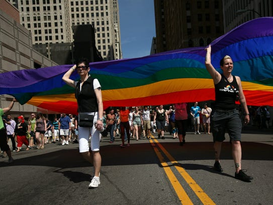 The Motor City Pride Parade kicks off at noon Sunday