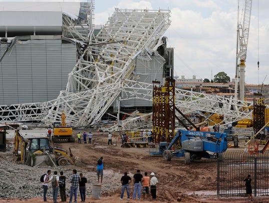 AP Brazil Stadium Collapse
