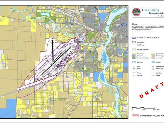 Sound map of Great Falls Airport in Montana.