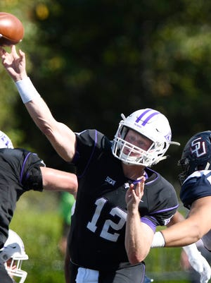 Furman quarterback Reese Hannon became the school's all-time leading passer Saturday.