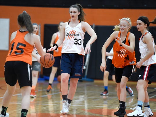 Olivia Richardson (33), shown here during a preseason practice last year, is one of Lebanon County's top players and will play at Millersville University next season.