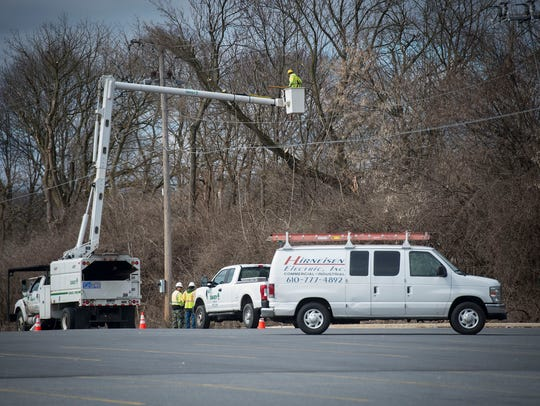 The Lebanon Valley Mall remained without power Saturday,