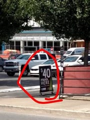 Just one example of the surging parking prices in downtown