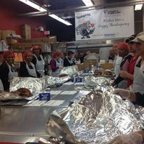 Preparing and delivering 3,500 holiday meals