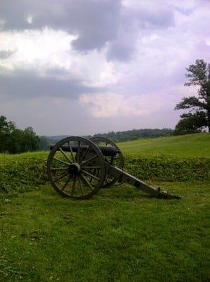 Wiedrich's New York battery monument on East Cemetery Hill at Gettysburg. Scott Mingus photo.