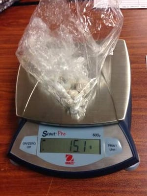 Heroin confiscated in August 2015 by Waynesboro Police.