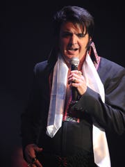 """Kevin Conley, of St. George, participates in the 2015 """"Elvis Rocks Mesquite"""" competition at the CasaBlanca Resort in Mesquite."""