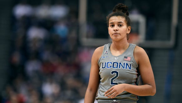 Connecticut's Andra Espinoza-Hunter during the second