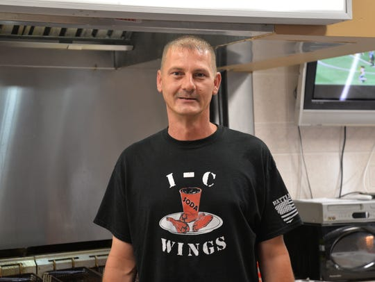 Mike Adkins of I-C Wings now located in the Staunton