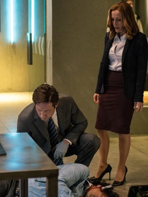 Mulder (David Duchovny) and Scully (Gillian Anderson) are back on the case when Fox's 'The X-Files' returns on Jan. 24.