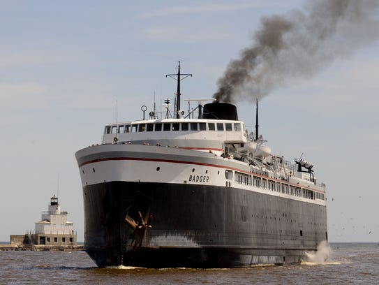 The S.S. Badger makes its 60-mile crossing of Lake