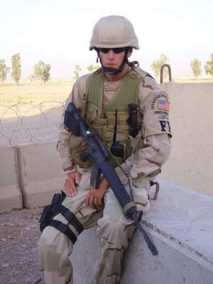 Joe Olejniczak, of Santa Fe, Tenn., was deployed to Iraq in July 2004 when his father wrote him a letter. That letter was read on Thursday at the White House.